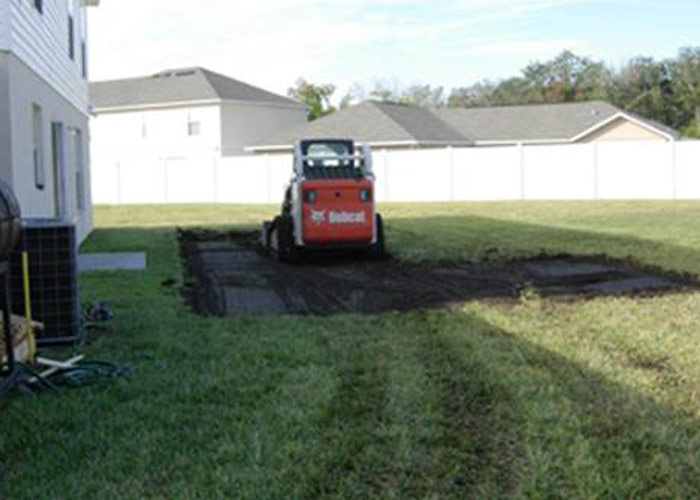Preparing site for pool construction