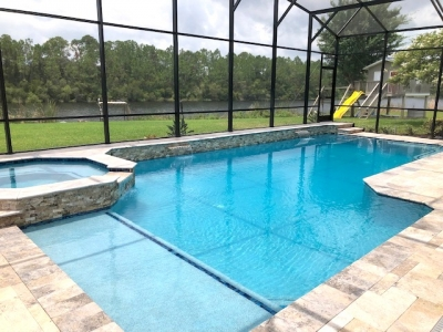 Custom pool and spa in Flagler Beach