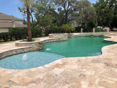 Custom resort style spa in Ormond Beach