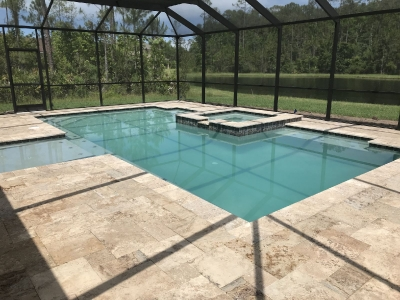 Custom pool and spa in Ormond Beach