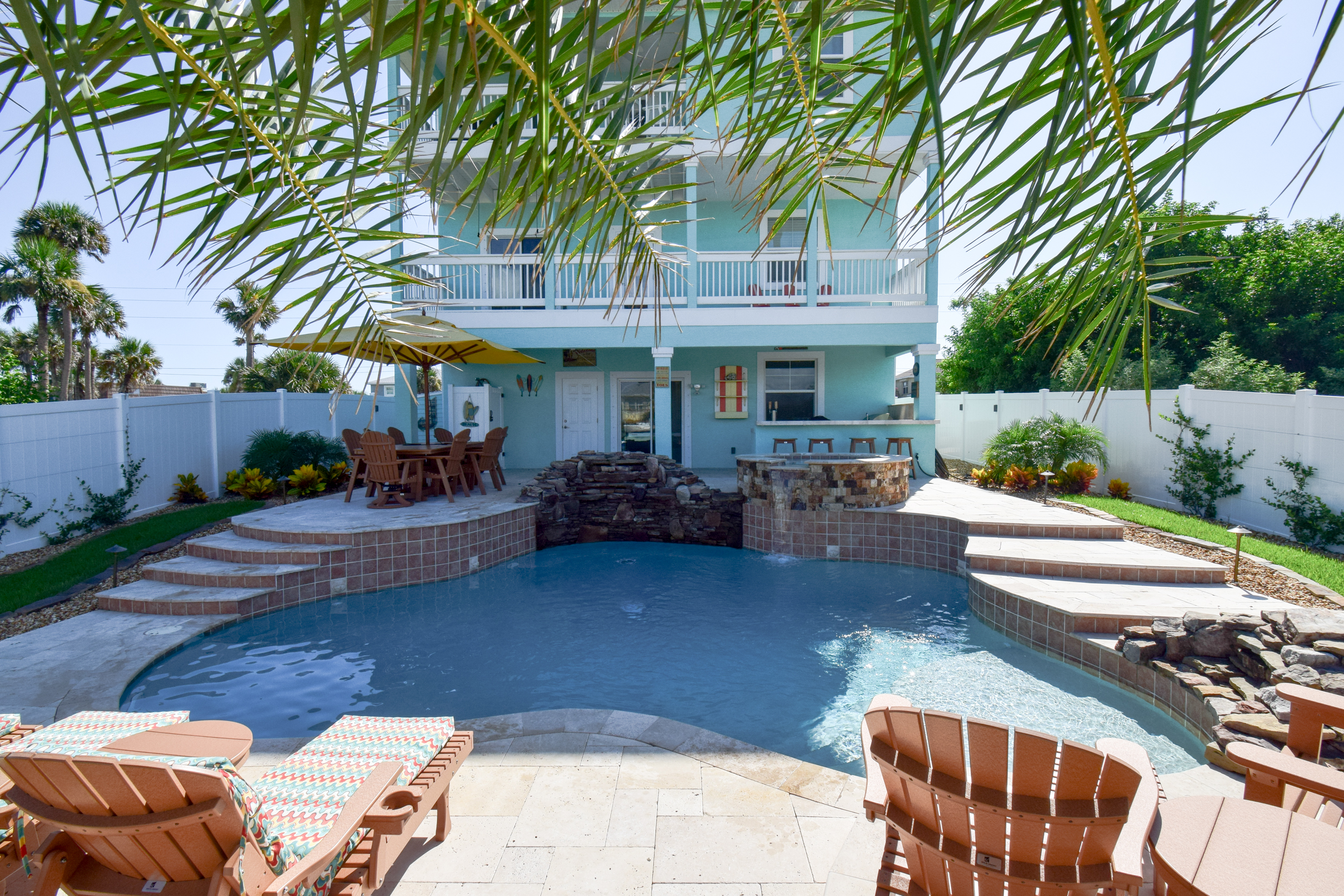 Custom Flagler Beach pool and spa design and construction