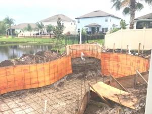Daytona Beach pool stell framing