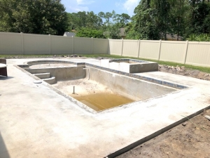 Deltona pool concrete sub deck