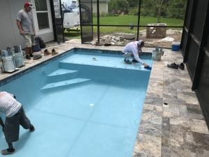 Flagler Beach pool construction interior finish