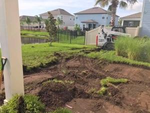 New Smyrna Beach pool construction land prepping