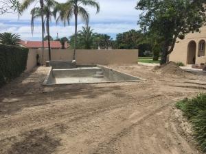 New Smyrna Beach pool grading