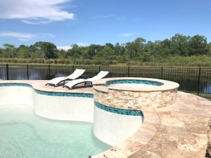 Palm Coast pool filling with water