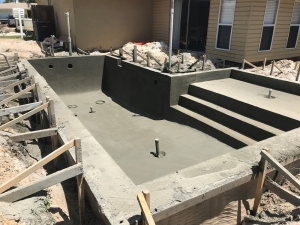St Augustine pool gunite shell