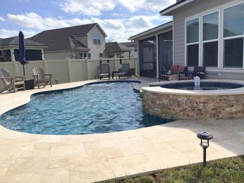 Custom pool and spa build in St Augustine