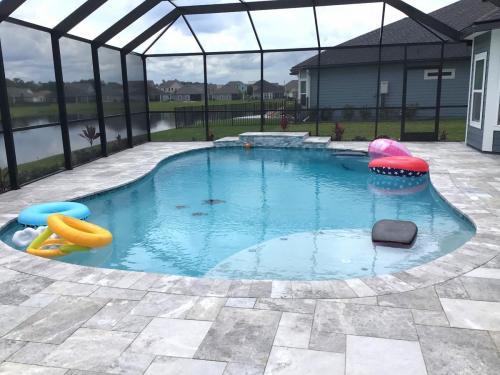 Inground saltwater pool construction