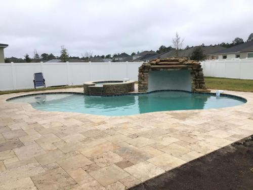 Custom pool and spa with grotto